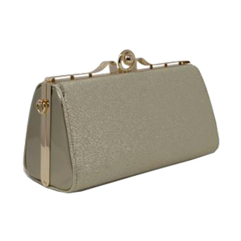 New Glitter Patent Leather Hardcase Ladies Bridal Clutch Bag Purse