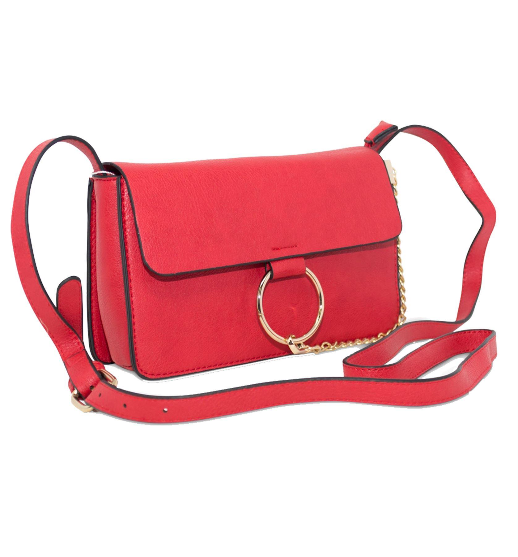New Women's Fashion Gold Hoop Chain Design Belt Strap Shoulder Bag