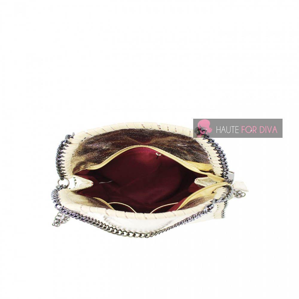 NEW ON TREND DESIGNERS CHAIN TRIM HANDLES STRAP INNER POCKETS TOTE SHOULDER BAG