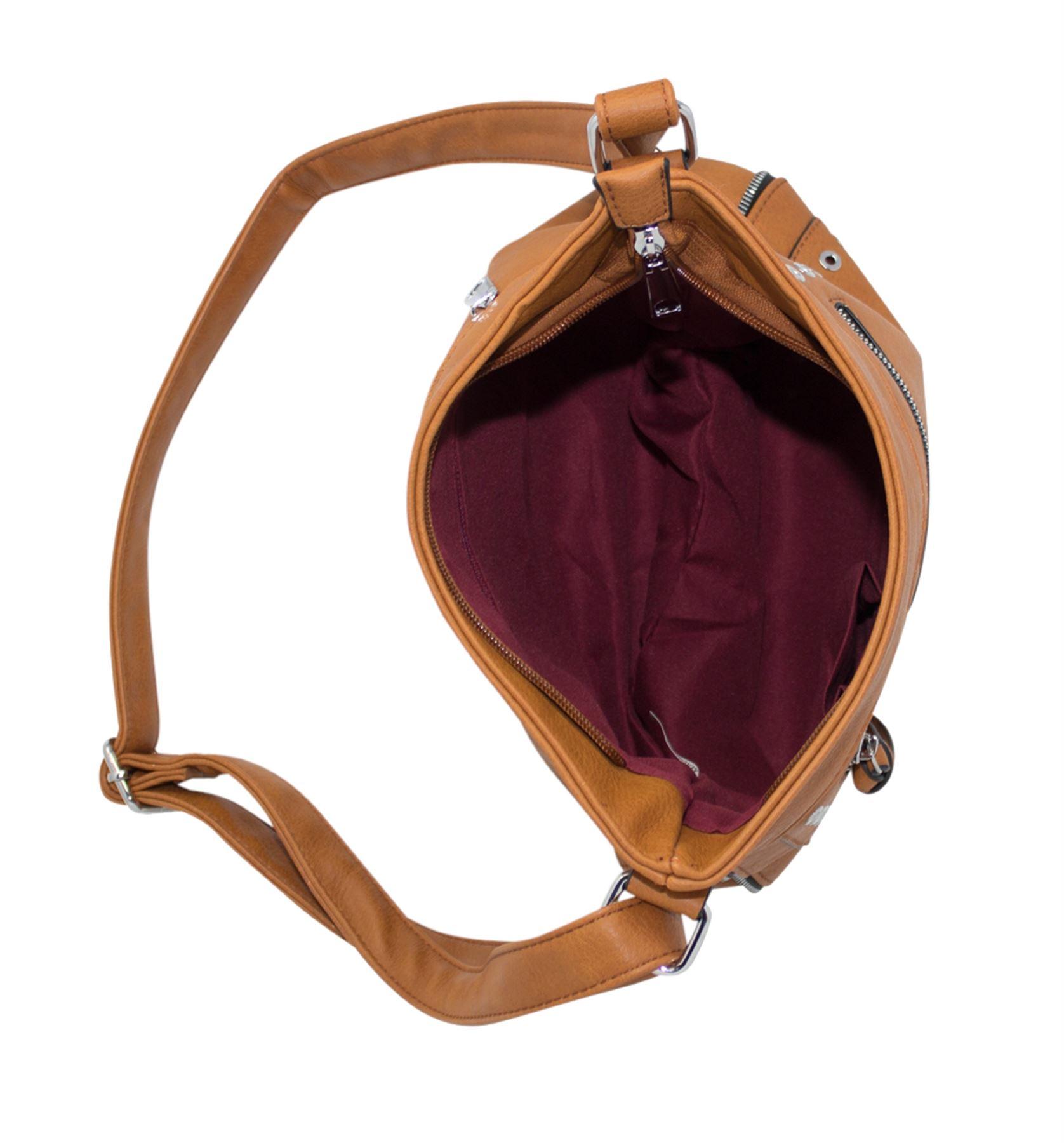 Nuevas damas de imitación de cuero correa ajustable de diseño con cremallera casual bolso de hombro
