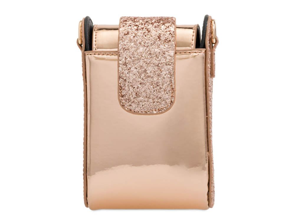 New Glitter Faux Patent Leather Phone Case Ladies Mini Shoulder Bag