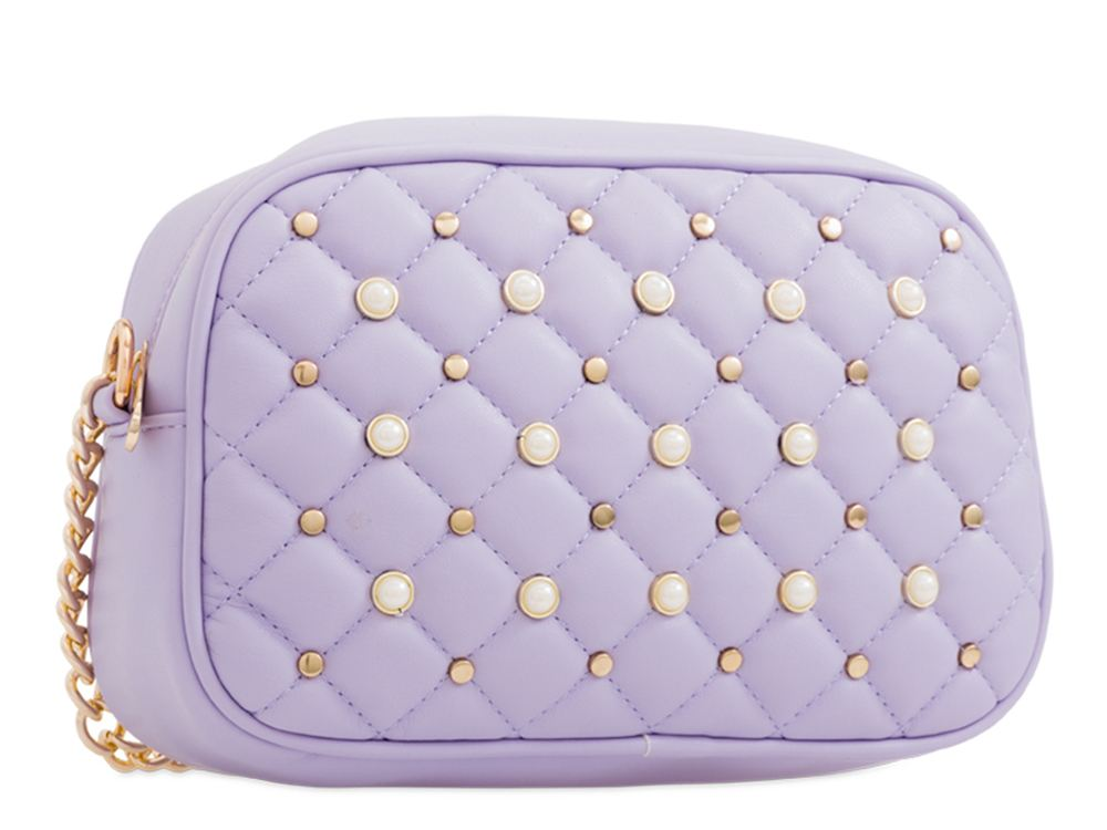 New Studs Decoration Quilted Faux Leather Women's Shoulder Clutch Bag