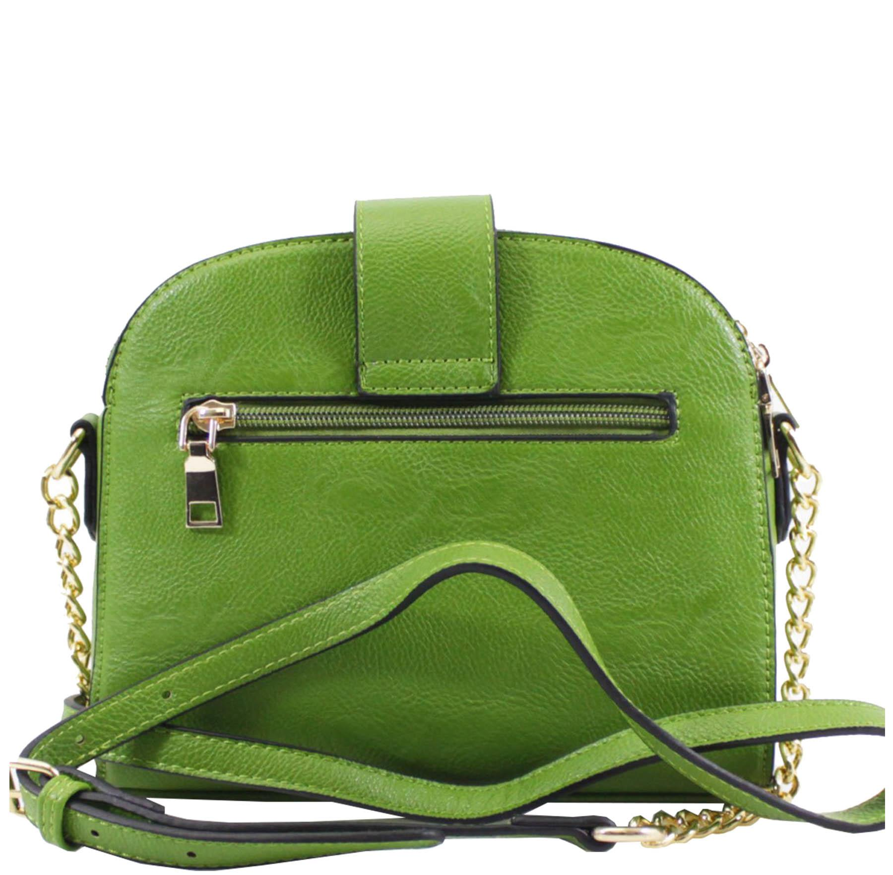 New Women's 3 Compartments Faux Leather Fashion Shoulder Bag