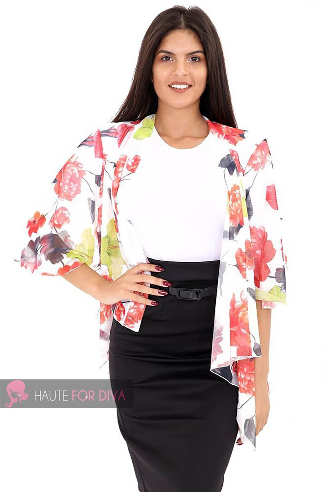 LADIES WOMENS NEW HALF SLEEVE OPEN PRINTED KIMONO KAFTAN HOLIDAY BIKINI COVER UP