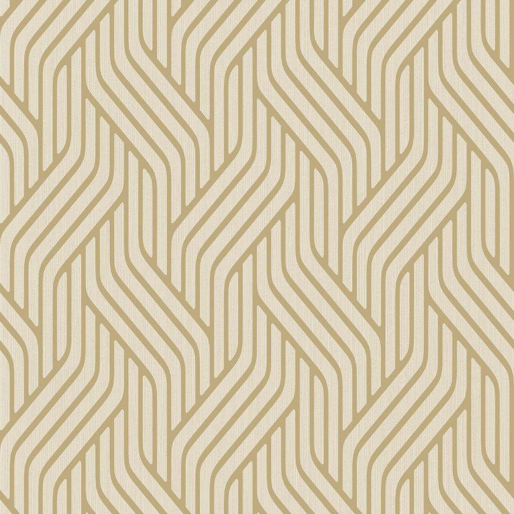 Holden Pembrey Stripe Pattern Wallpaper Metallic Geometric Textured Motif