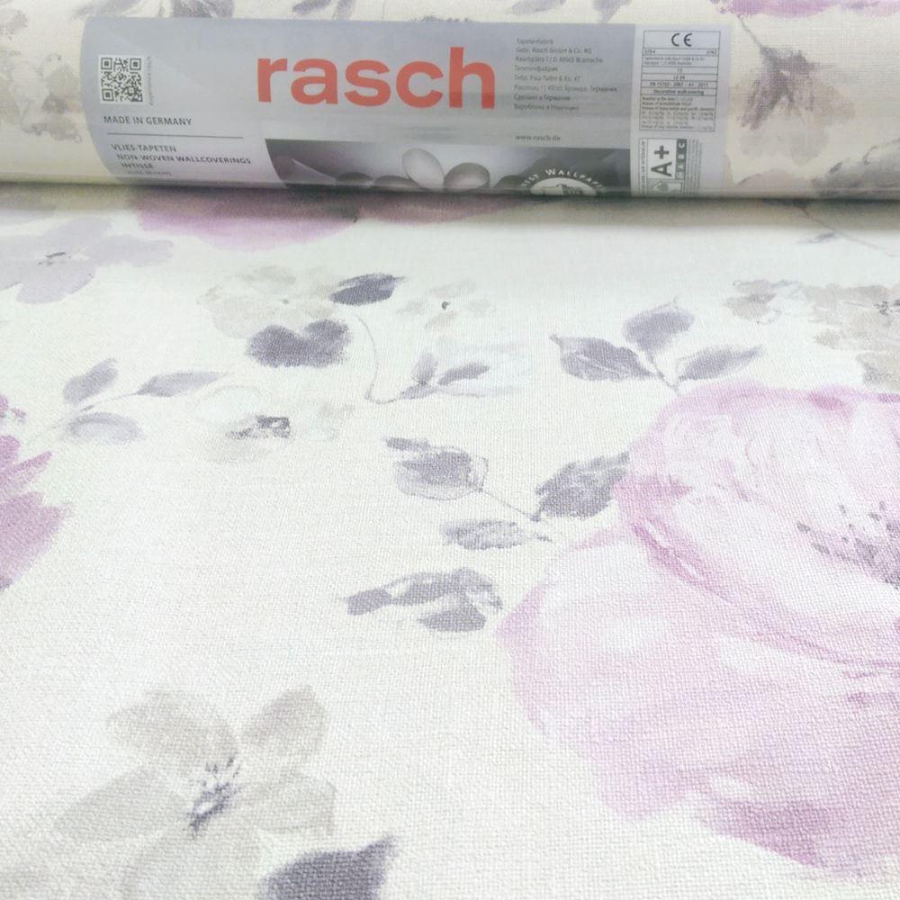 NEW RASCH FLORENTINE FLOWER PATTERN FLORAL MOTIF WATER COLOUR TEXTURED WALLPAPER