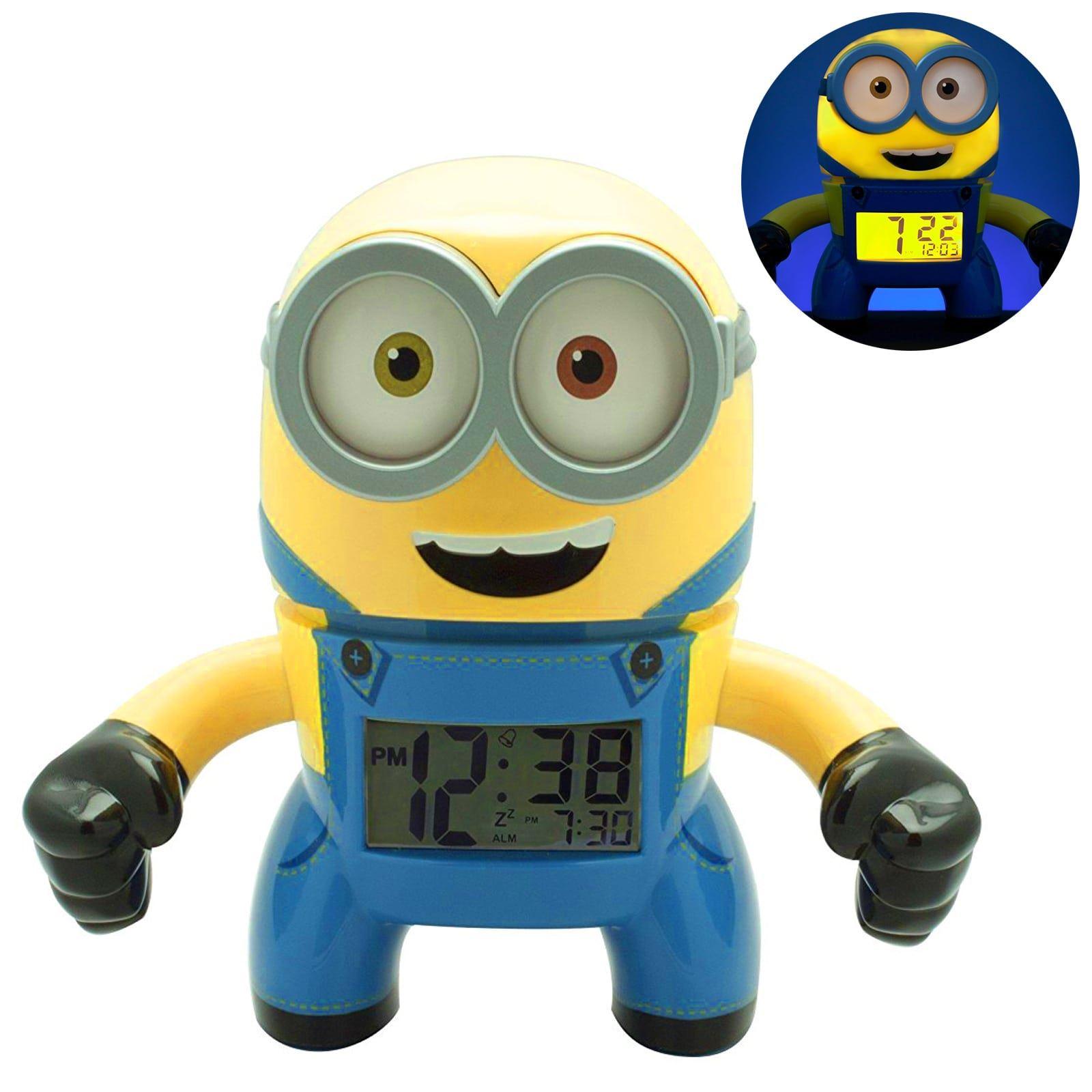 BulbBotz Minions Alarm Clock Kids Night Light Digital Time Display Bob Stuart