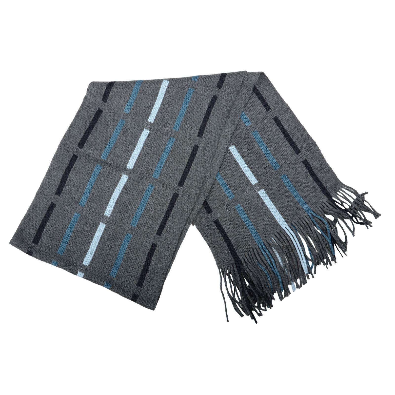 New Mens Classic Knitted Stripe Design Neck Scarf Gents Winter Fashion Gift