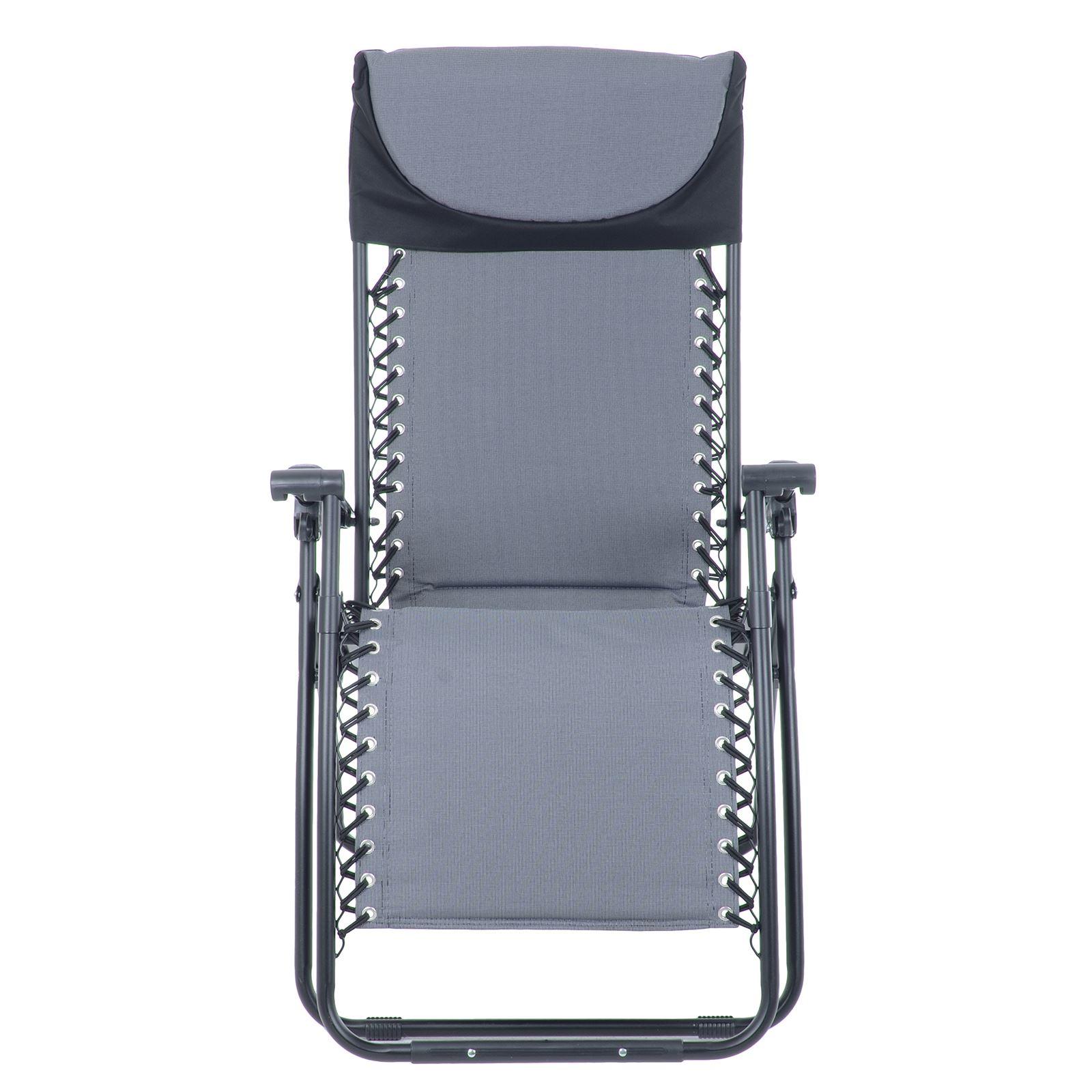 Azuma Zero Gravity Padded Relaxer Chair Reclining Garden Multi Position Lounger