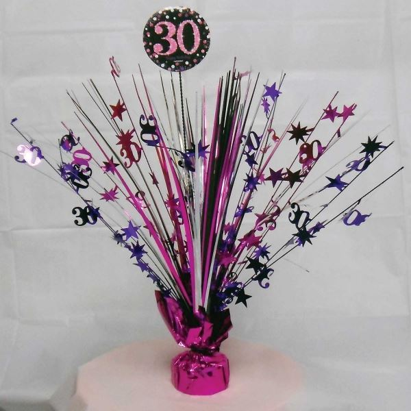 Pink Celebration Adult Age Birthday Party Tableware Balloons Decorations