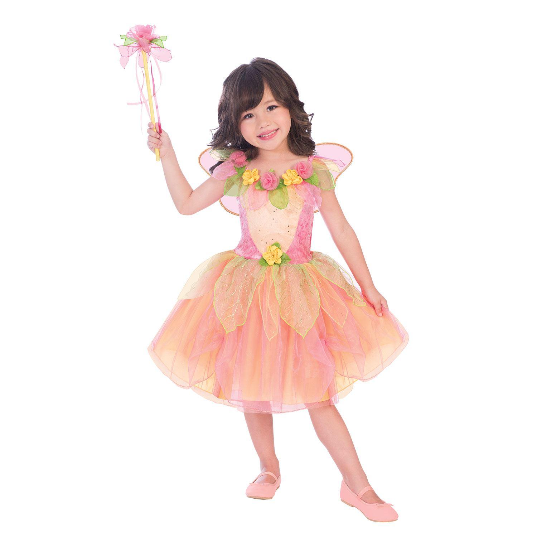 Le Ragazze Fata Principessa Peach Sorbetto Fancy Dress Up Party Costume