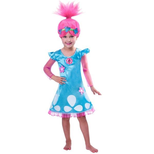 Trolls de Pavot à manches longues filles Livre Semaine Fancy Dress Costume