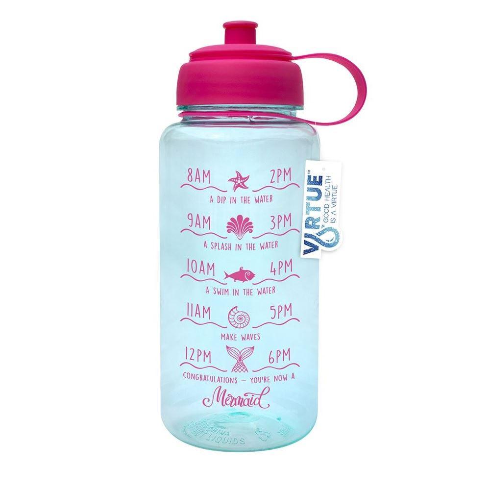 1L Big Large Sport Fitness Gym Camping Water Bottle Cap Leakproof Pink Black