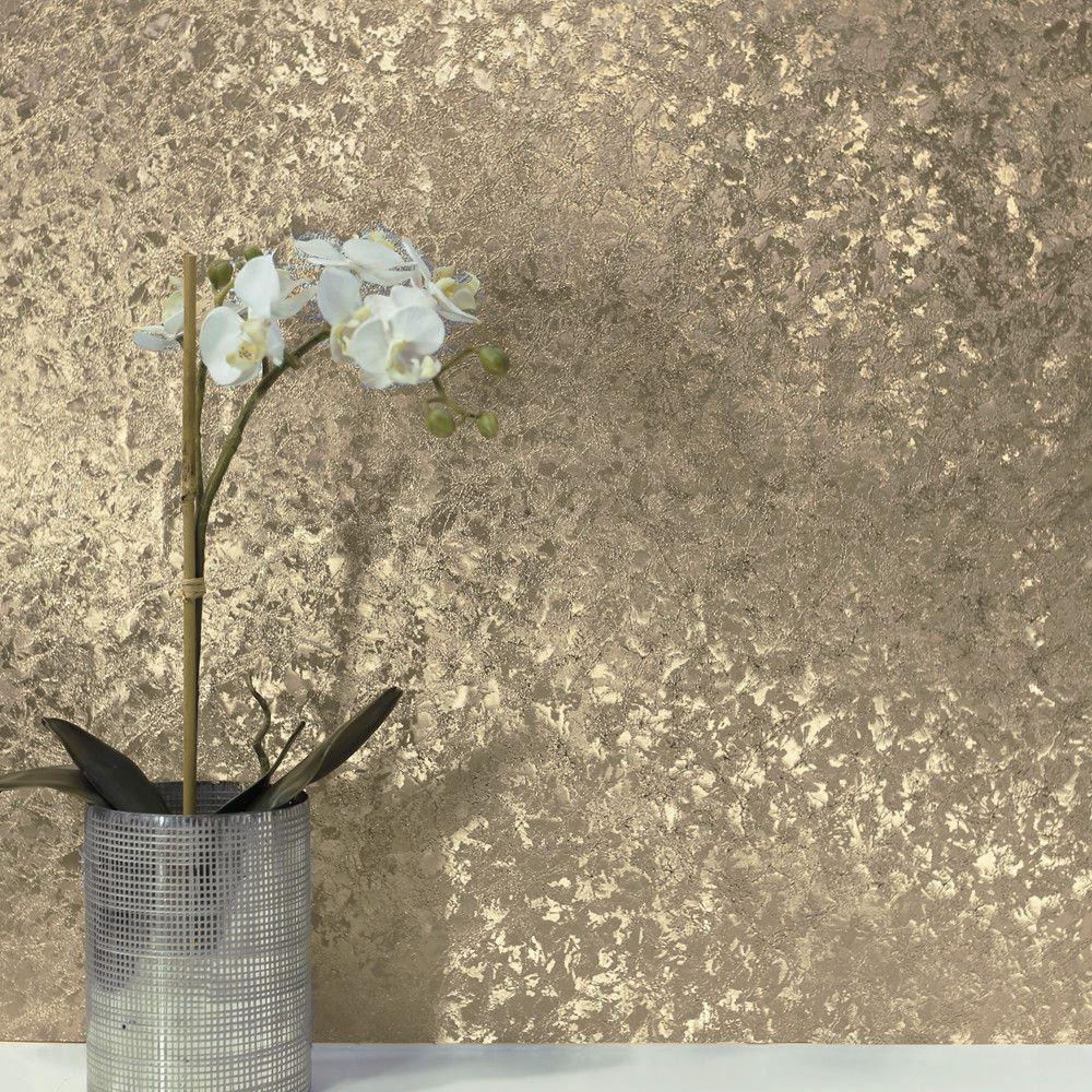 Crushed Velvet Foil Wallpaper Arthouse Textured Metallic Shine Embossed Vinyl