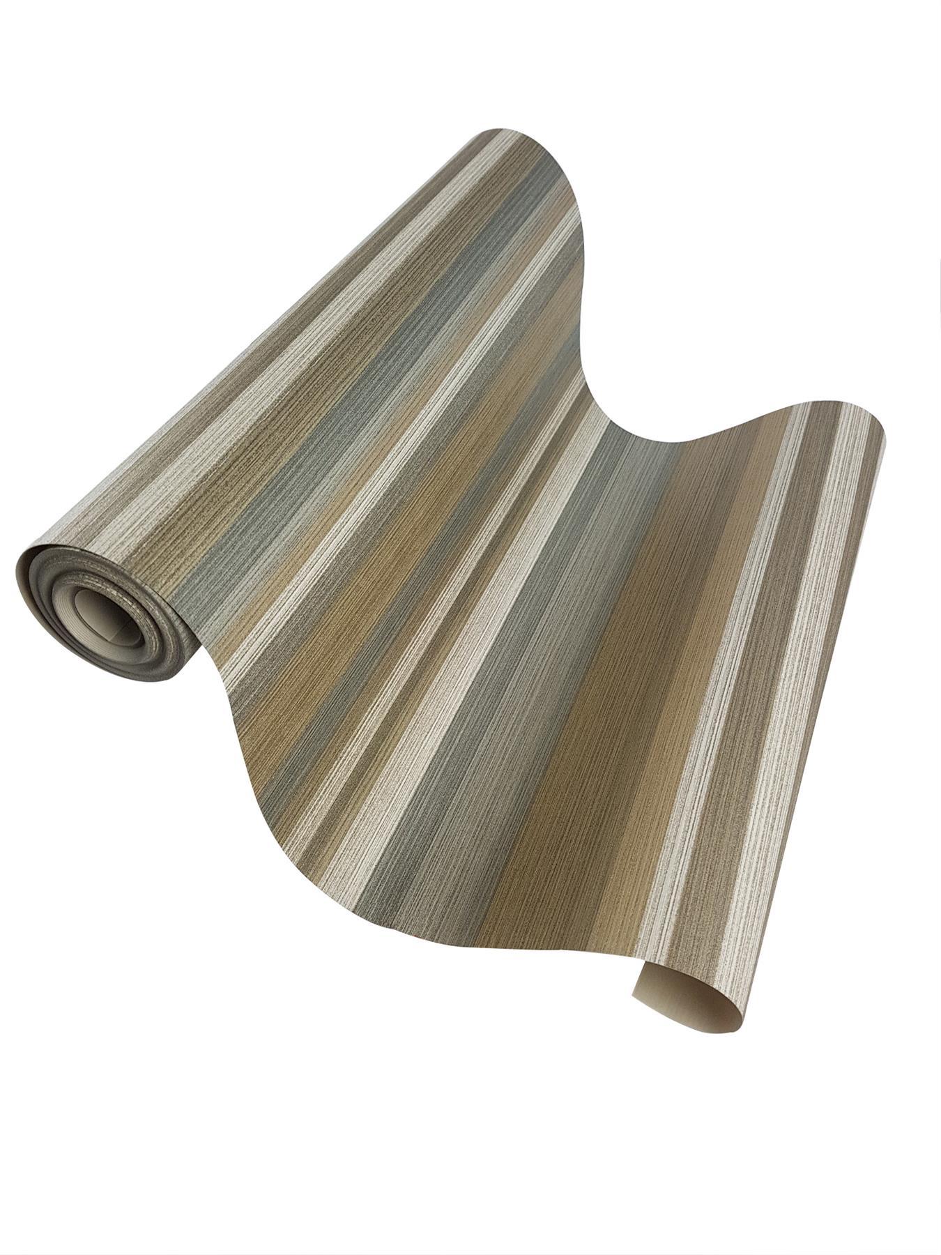 Green Gold Beige Silver Striped Wallpaper Metallic Shimmer Vinyl Stripes Crown