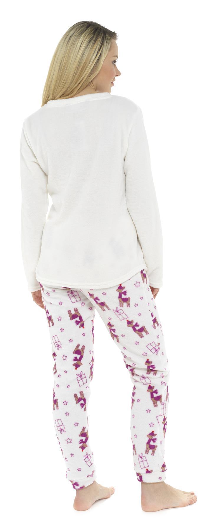 Femmes Filles Maman Fille Assortis Nouveauté Doux Peluche Micro Polaire Pyjama Cadeau