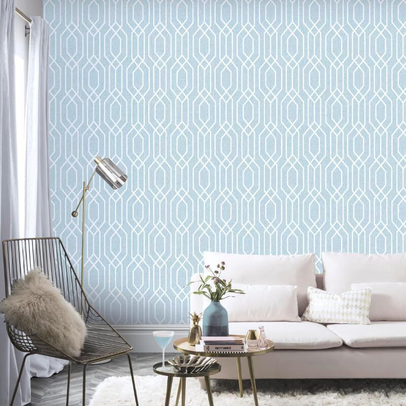 Gris 3D Géométrique Papier Peint Texturé Rétro Blanc Métallisé Grandeco 3 X Rouleaux