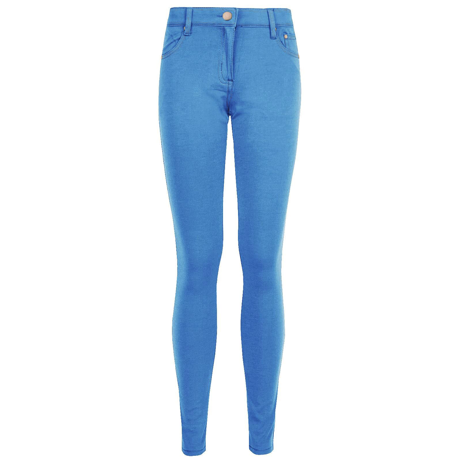 WOMENS SKINNY JEANS STRETCHY JEGGINGS LADIES FIT COLOURED TROUSERS SLIM PANTS