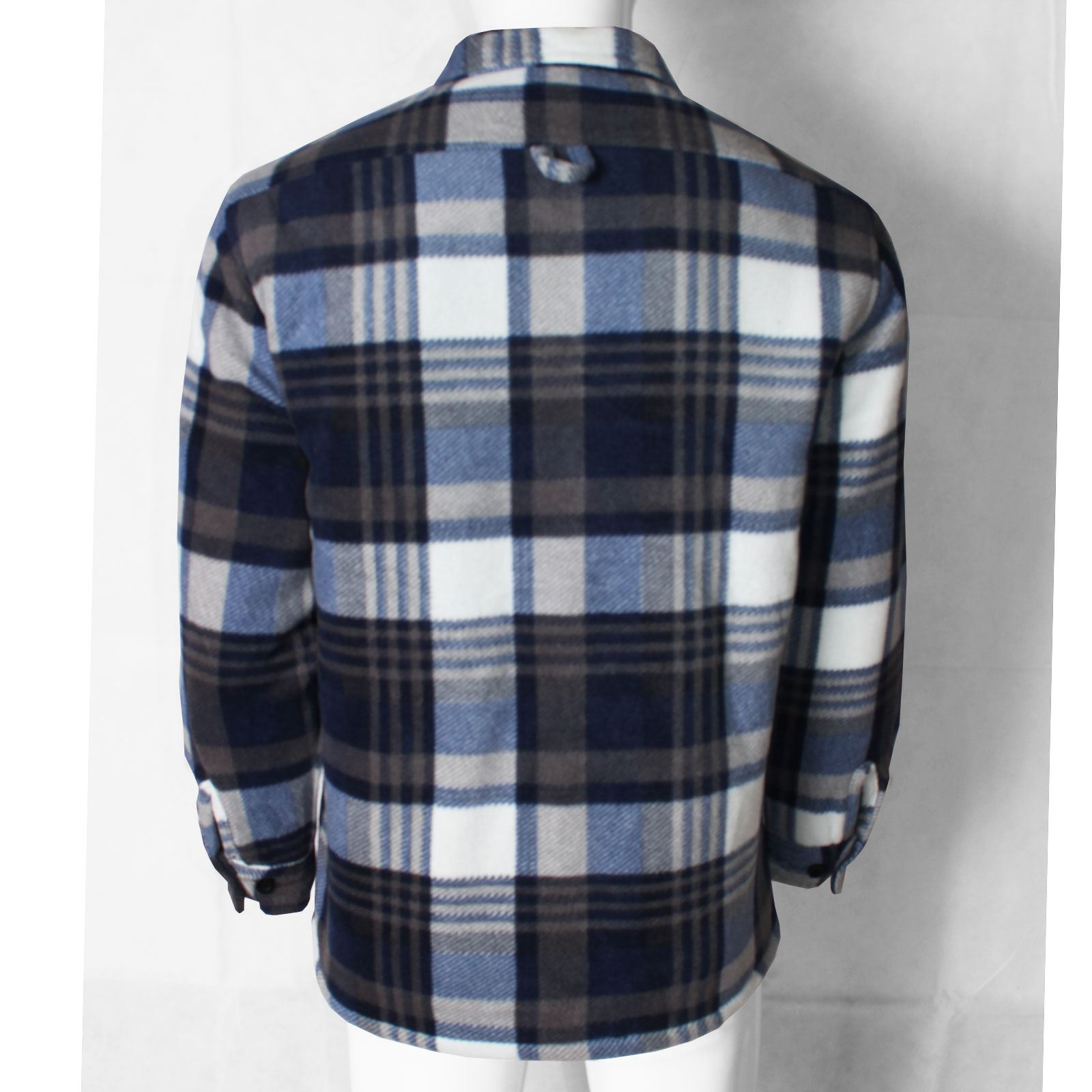 MENS FLEECE PADDED SHIRTS LINED SHERPA THICK LUMBER JACK WORK WARM WINTER TOPS