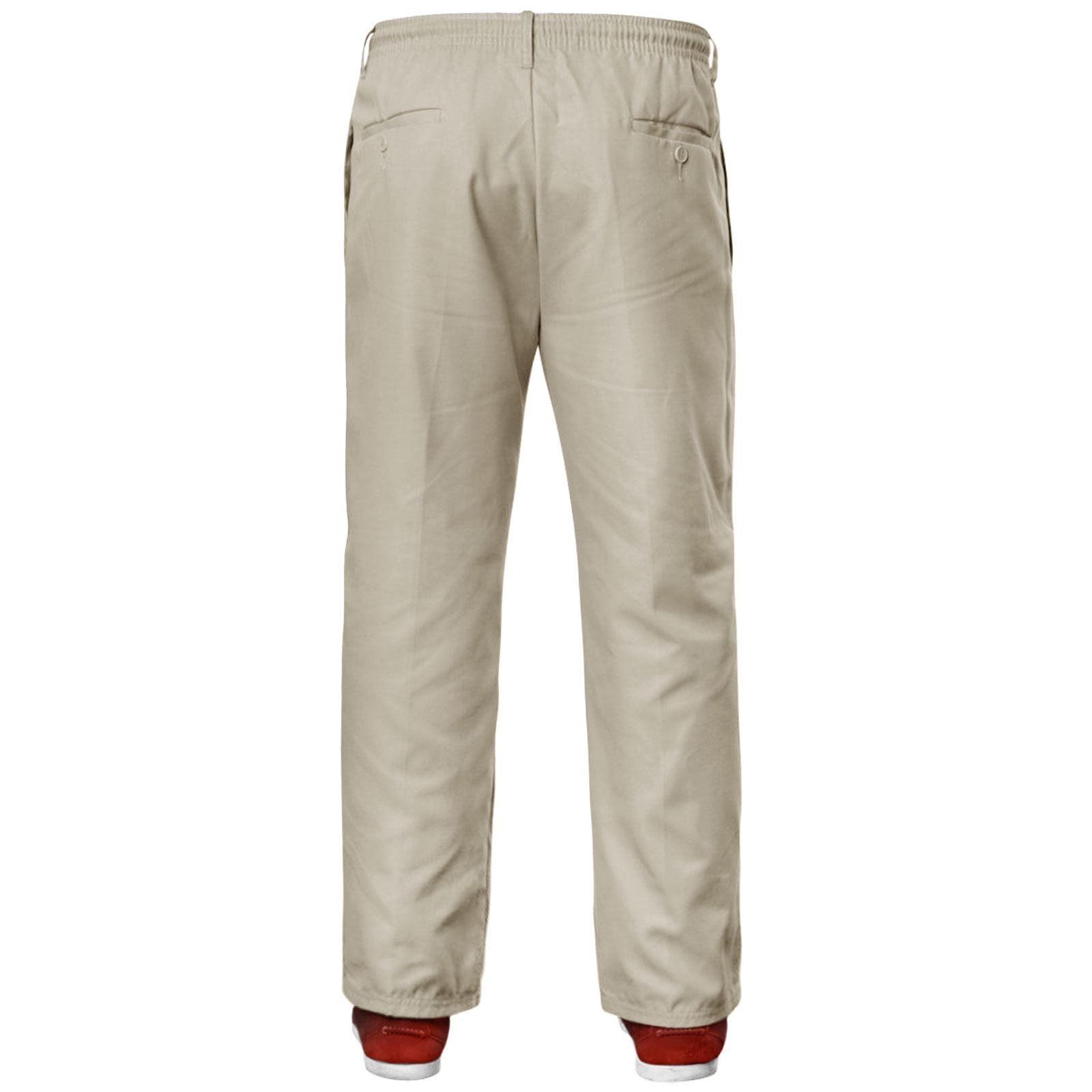 NUOVA linea uomo elastico in vita Lavoro Casual Rugby Pantaloni Pantaloni Pantaloni Smart Plus
