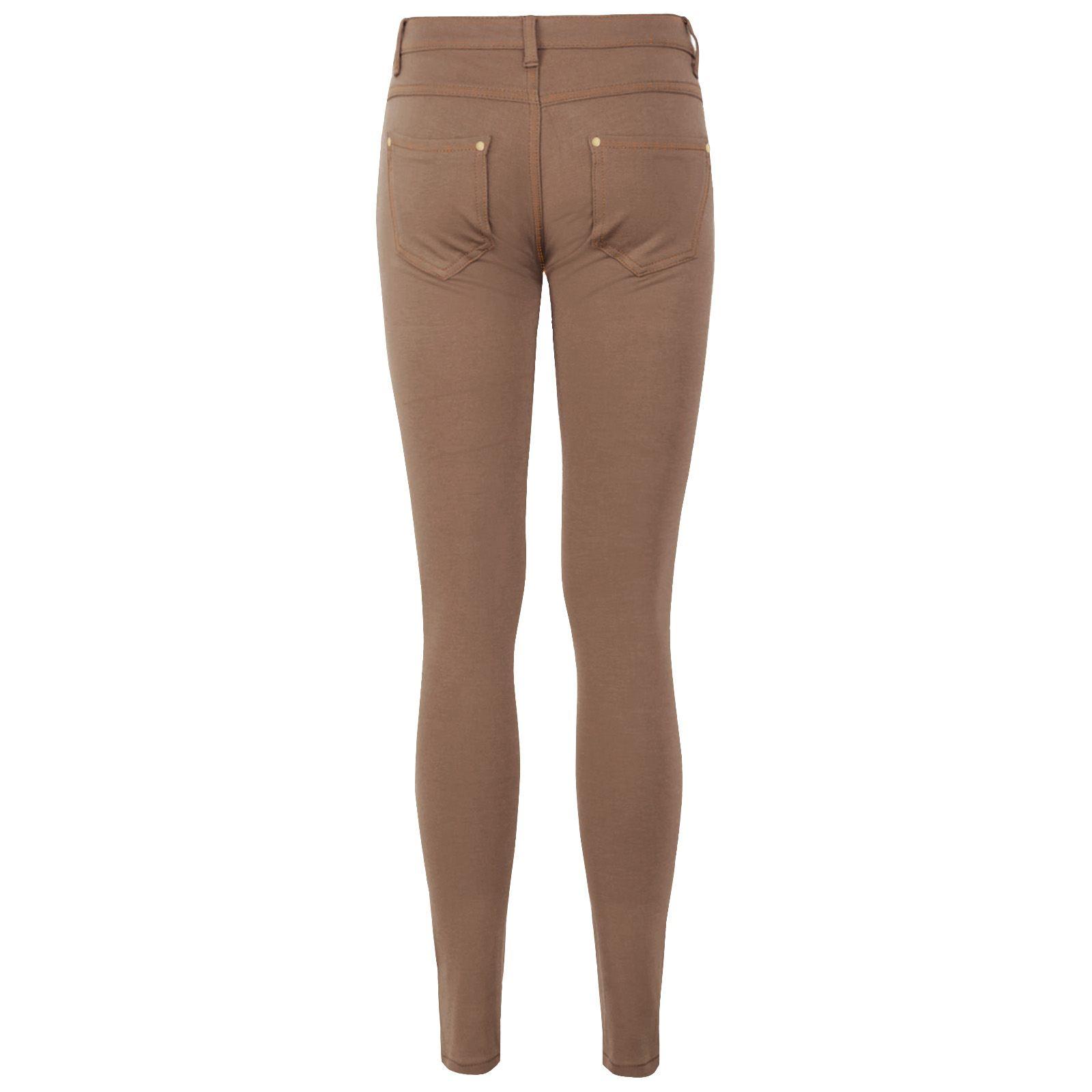 Jeans DONNA SKINNY Elasticizzato Jeggings Donna Fit Colorato Pantaloni Pantaloni Slim