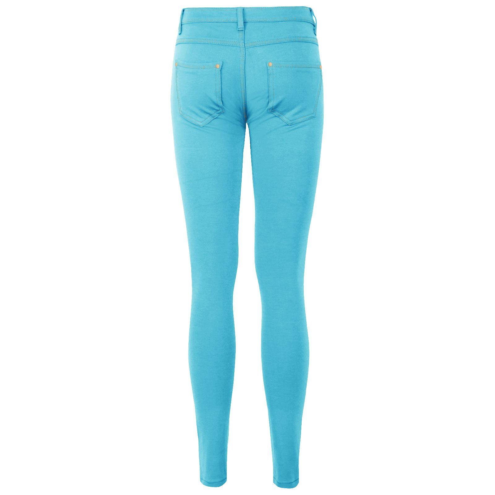 Da Donna Con Elastico Jeans Jeggings Pantaloni Per Bambine Skinny Pantaloni Slim Fit 8-26