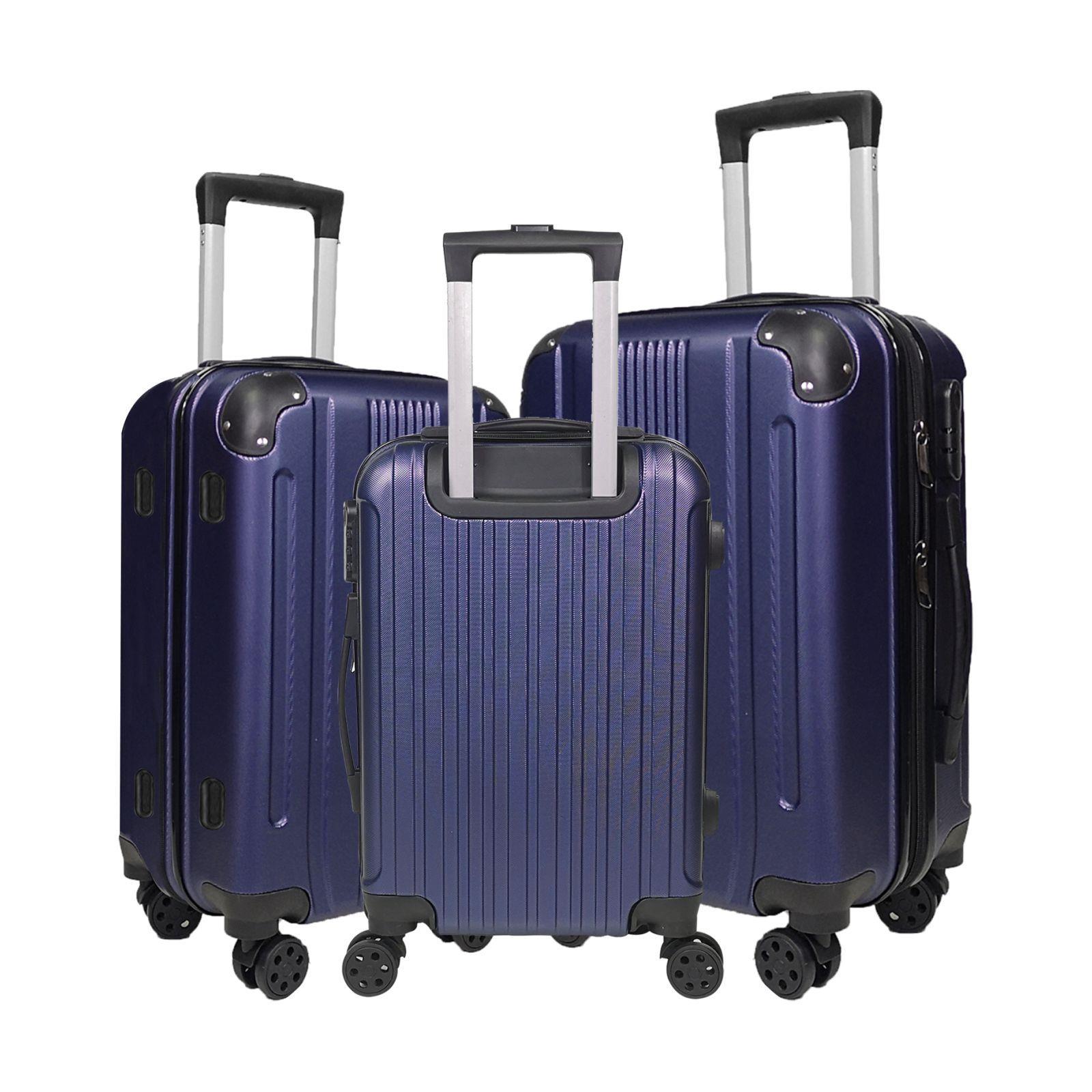 Coque Rigide Cabine Grande valise à 4 roues Léger Voyage Chariot Bagage