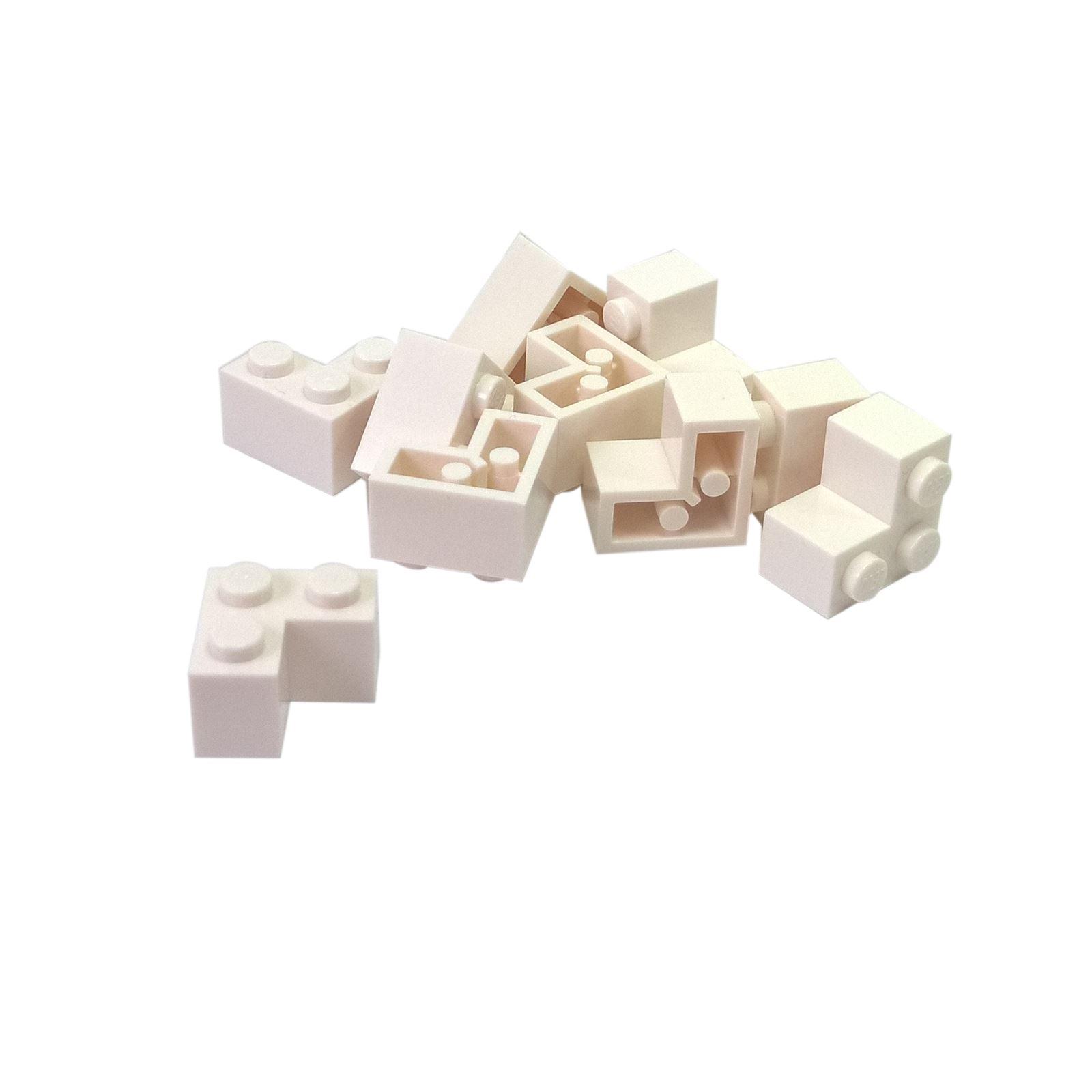 10 NEW LEGO Brick 2 x 2 Corner White