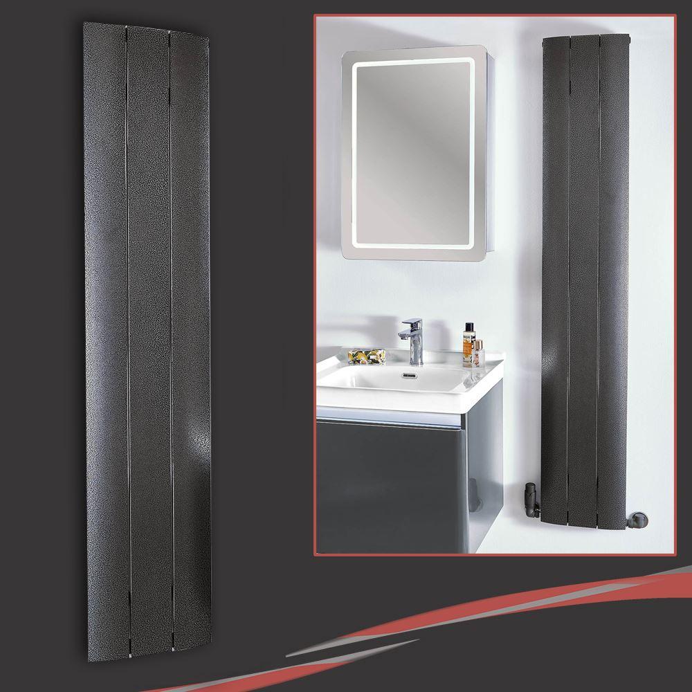 "/""Thor/"" Slimline Designer vertical aluminium radiateurs W x 1600 mm H 280 mm"