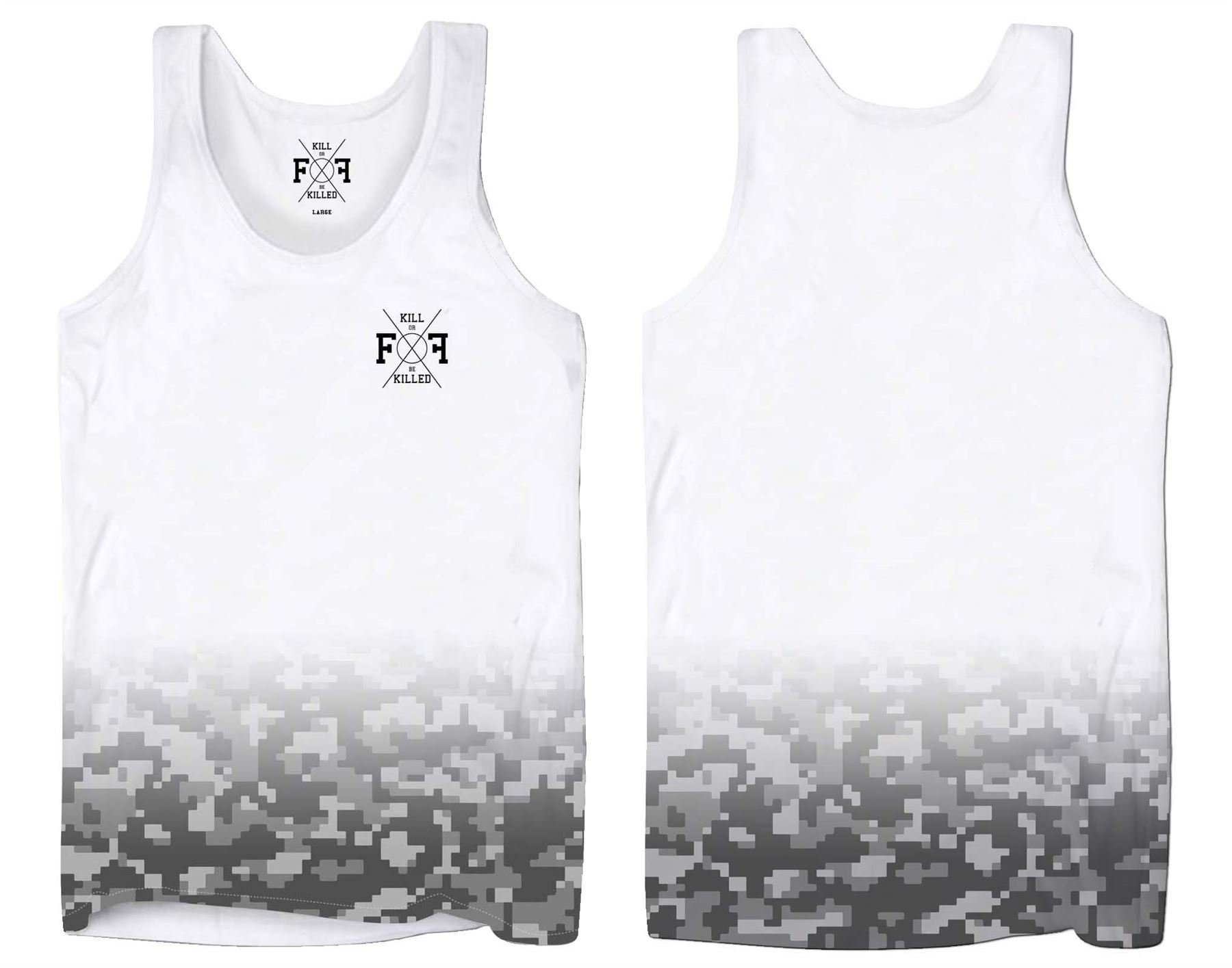 Holiday Vests for Men Digital Camo Summer Clothing Tank Tops Gym Beach Wear