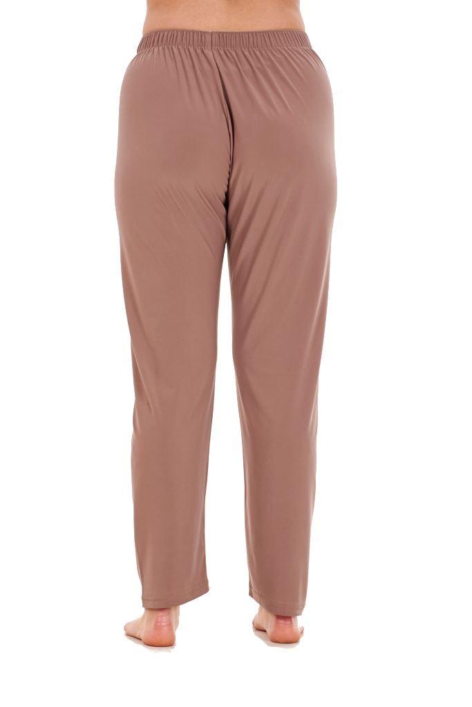 Ladies Women Trouser Elasticated Tapered High waist ITY Regular Pants Black