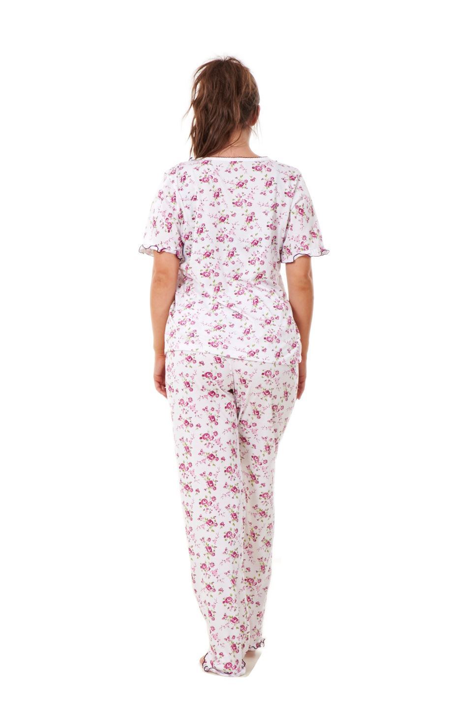 Ladies Women Pyjama Sets Floral Cotton Short Sleeve Button Nightwear Soft PJ's