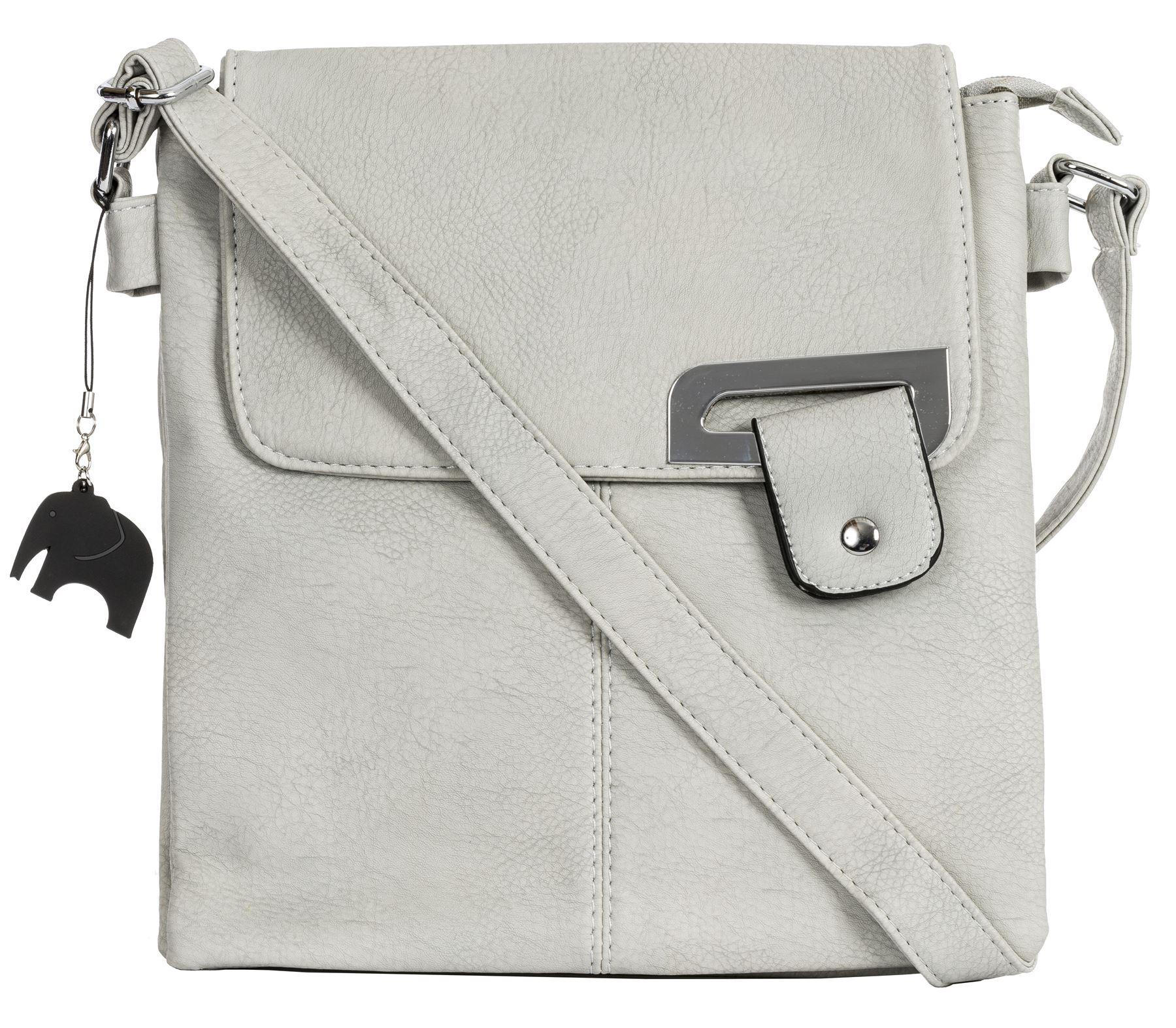 Big Handbag Shop Womens Medium Trendy Messenger Cross Body Shoulder Bag