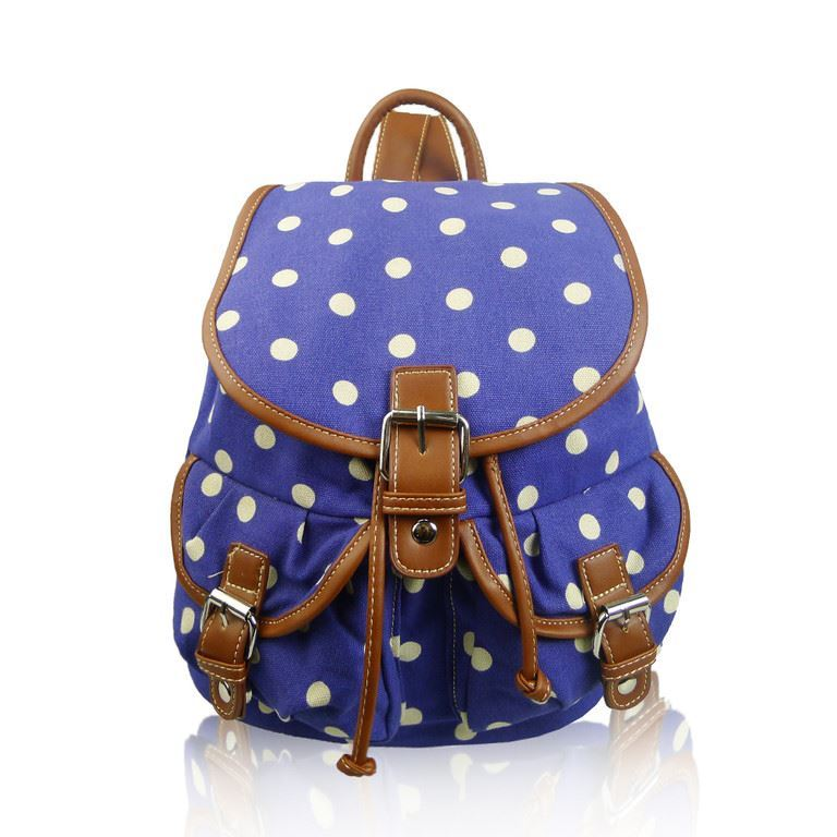 Pineapple Sausage Dog Canvas Rucksack School Backpack Polka Dot Unicorn Flower