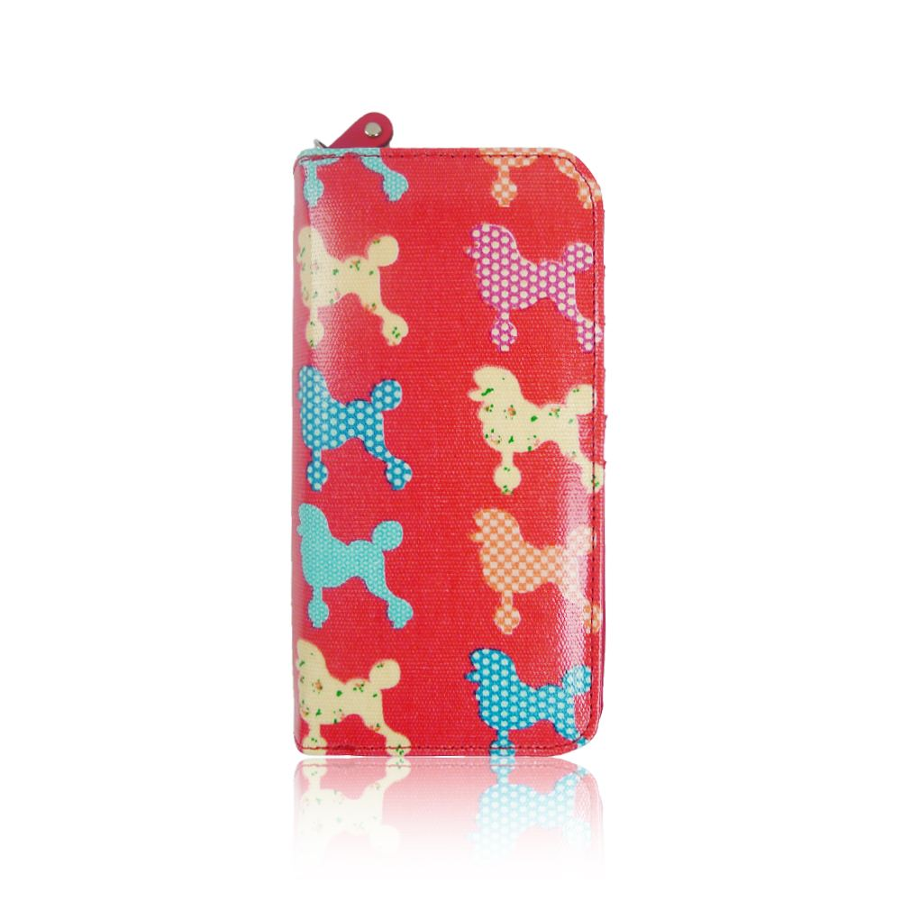 Women/'s Poodle Dog Oilcloth Handbag Purse SET Girl Matching Canvas Duffel Bag