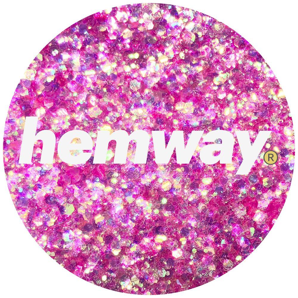 Hemway Pink Iridescent Glitter Chunky Mix Large Multi Dance Costume Festival