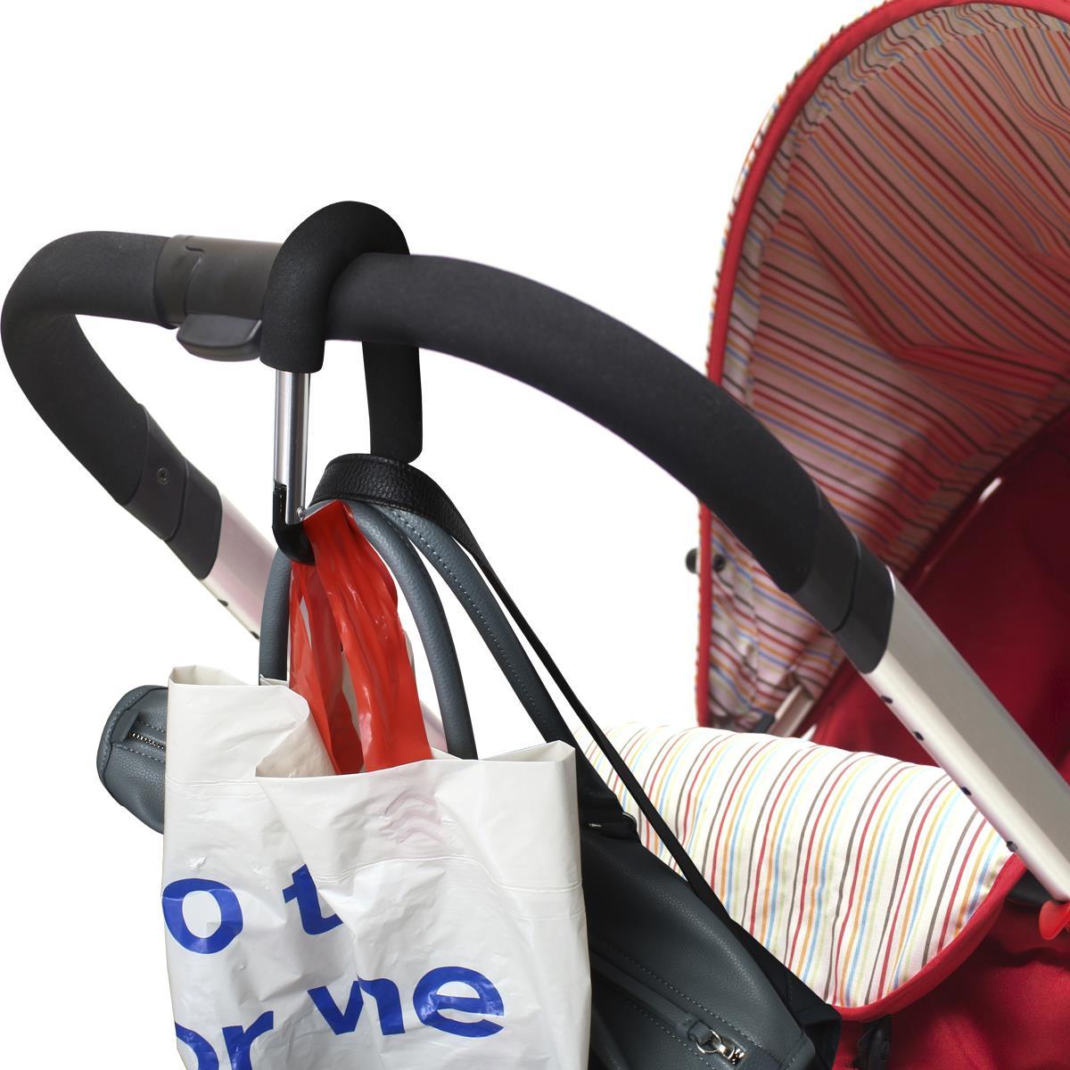 Carabiner Baby Buggy Clips Pram Bag Hooks Pushchair Buggies Stroller Walker 2pcs
