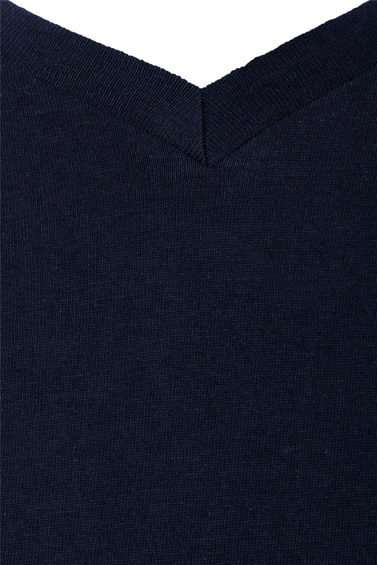 Mens V Neck Cotton Comfortable Regular Soft Short Sleeve Casual Tshirt Top Tee