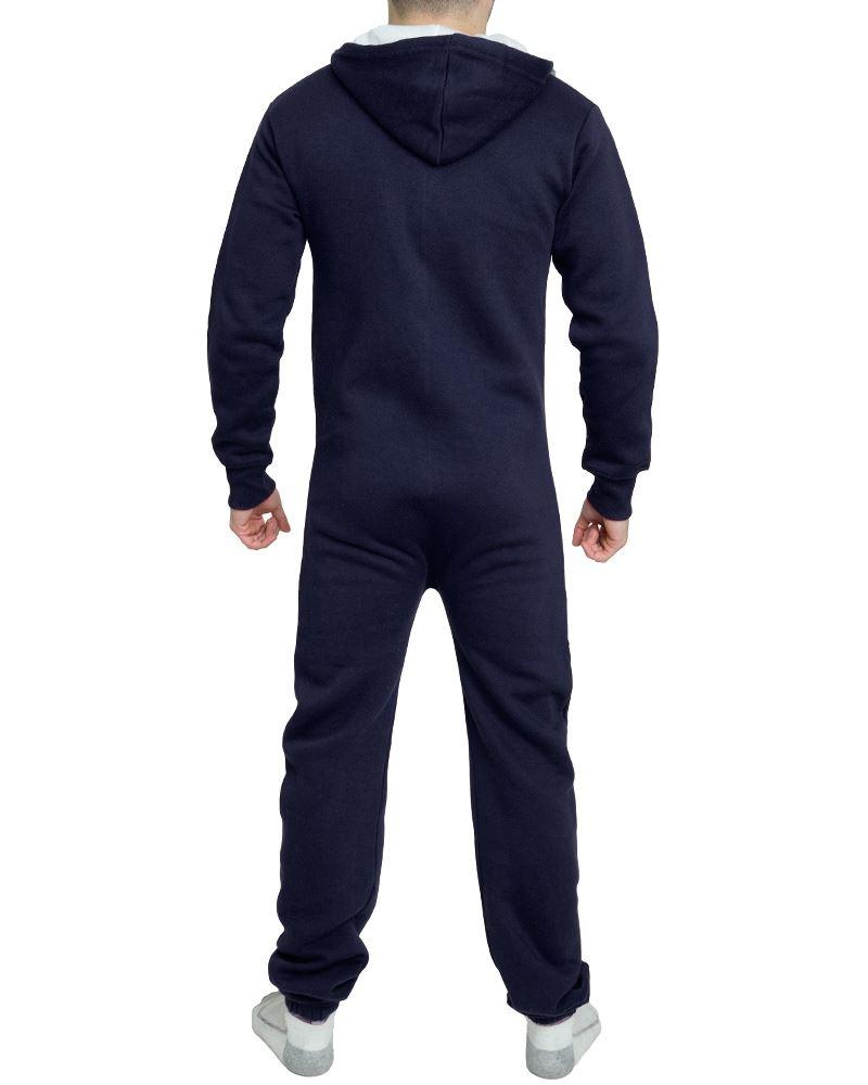 Linea uomo donna unisex con cappuccio a contrasto pagliaccetto OnePiece Set Tuta Zip