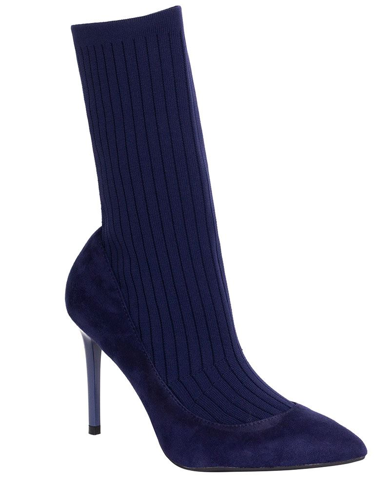 Womens Knit Stretch Stiletto Sock Boots High Heels Pointed Toe Shoes