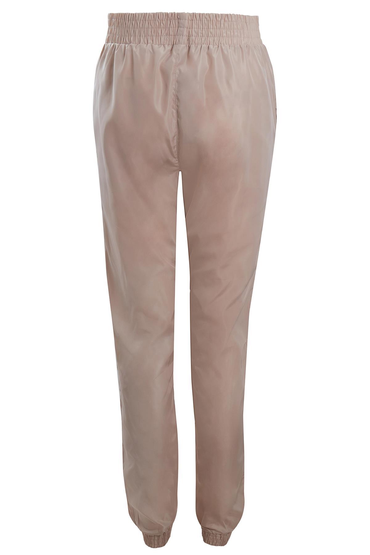 Womens Neon Contrast Shell Zip Crop Jacket Track Pants Suit Size