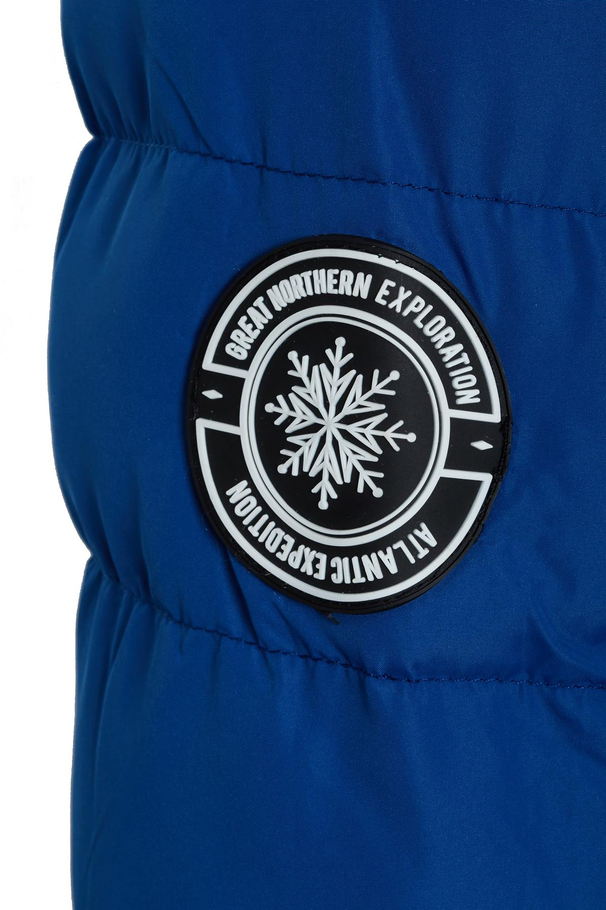 Womens Ladies Contrast Trim Faux Fur Hooded Puffer Winter Jacket Coat