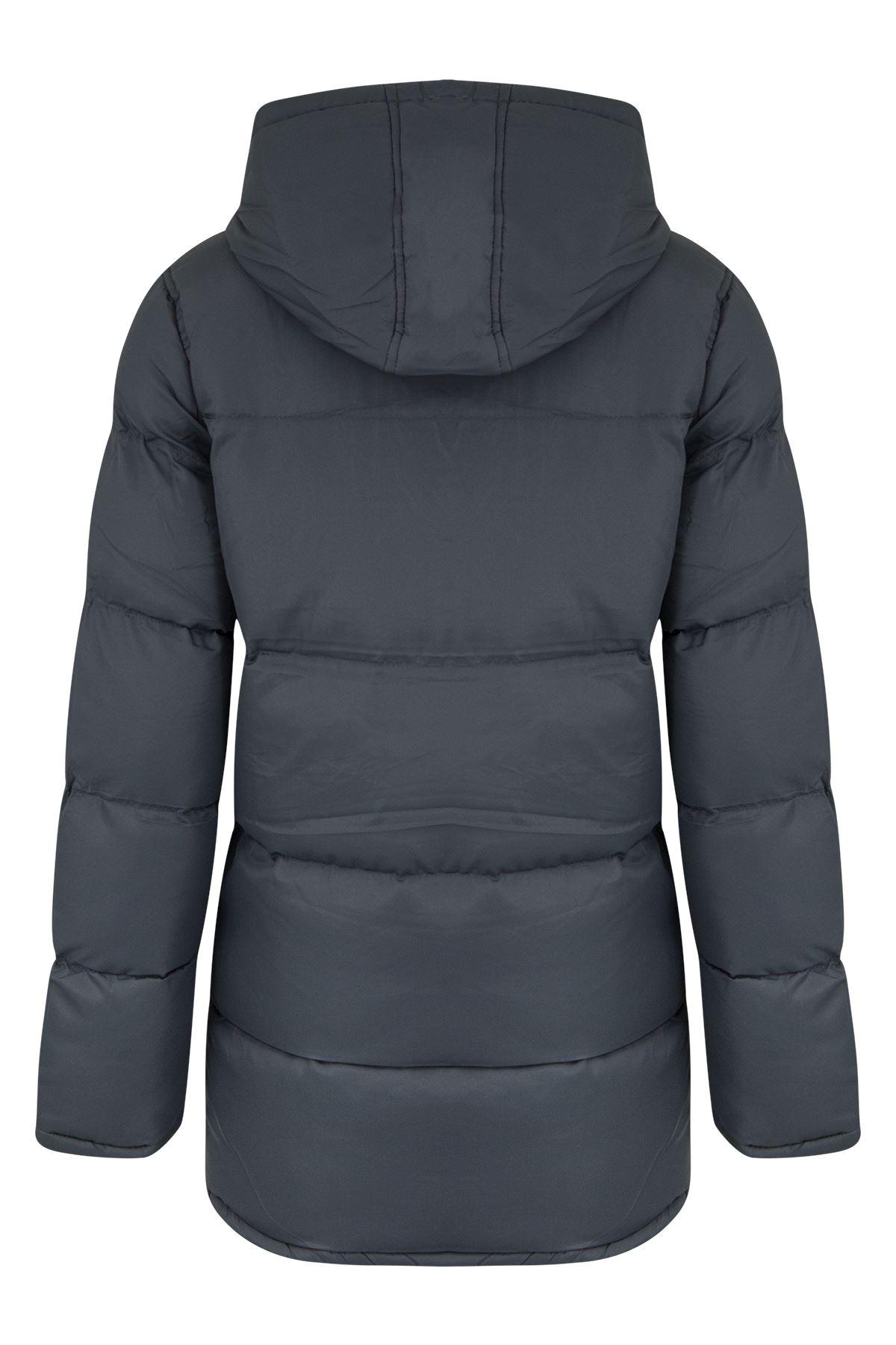 New Kids Boys Zipped Padded Hooded Warm Puffer Coat Parka Jacket