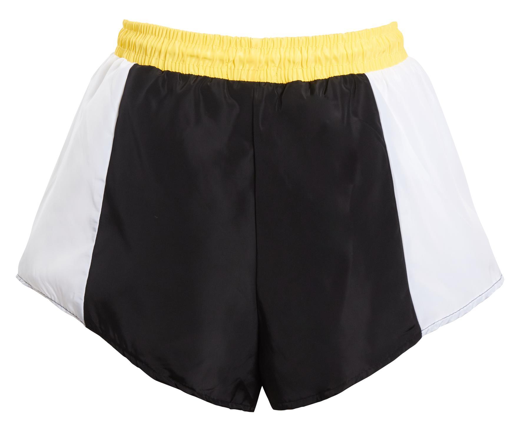 Ladies Colour Block Crop Top Shorts Co ord Festival Tie Front Pocket Set