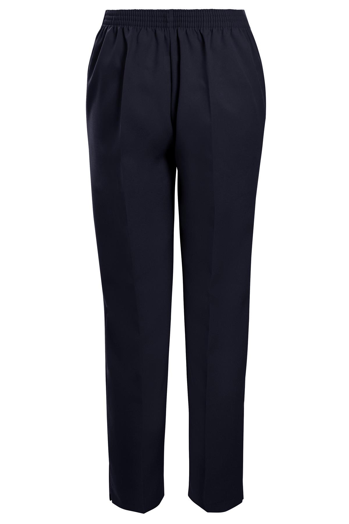 Da DONNA HALF VITA ELASTICIZZATA Stretch Casual Pull On Gamba Dritta Pantaloni Plus