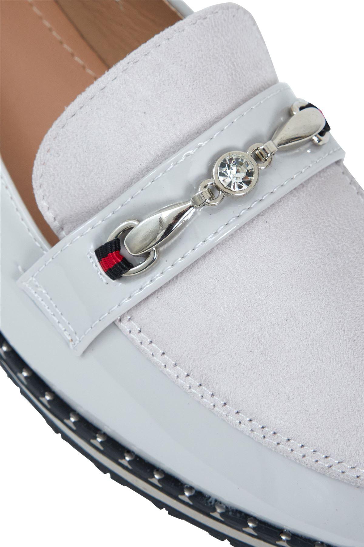 Ladies Buckle Detail Slip On Flat Sole Office Loafer Comfy Slider Shoes Size 3-8