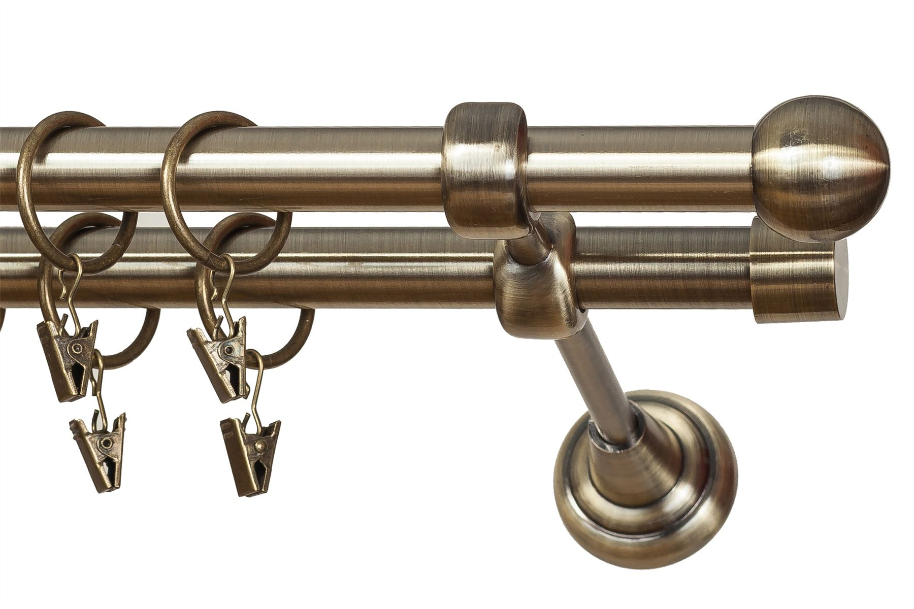 metal double curtain pole