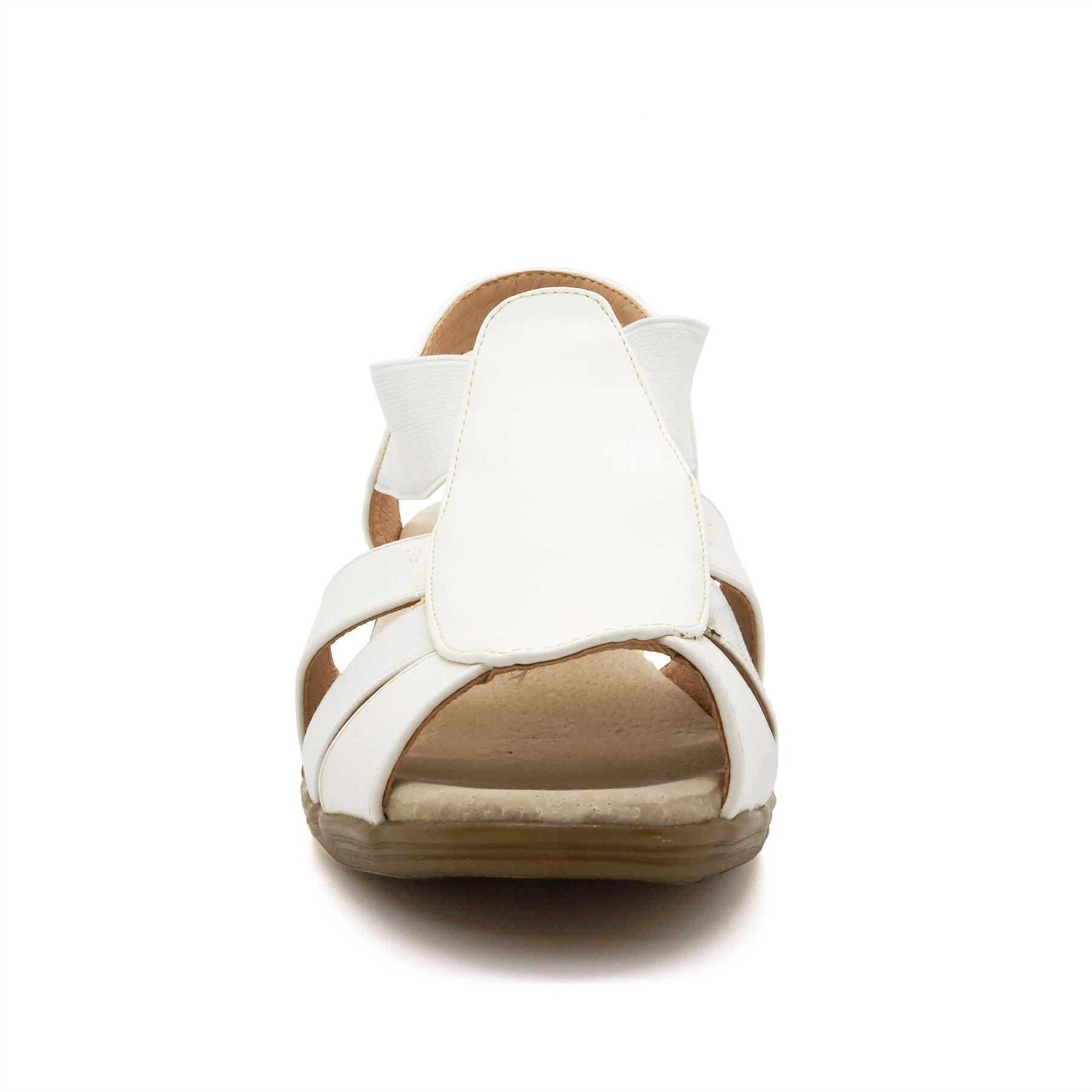 Nouveau Haut Bas Compensé Sandales Toe confort Femme Été Plage Mule à Enfiler