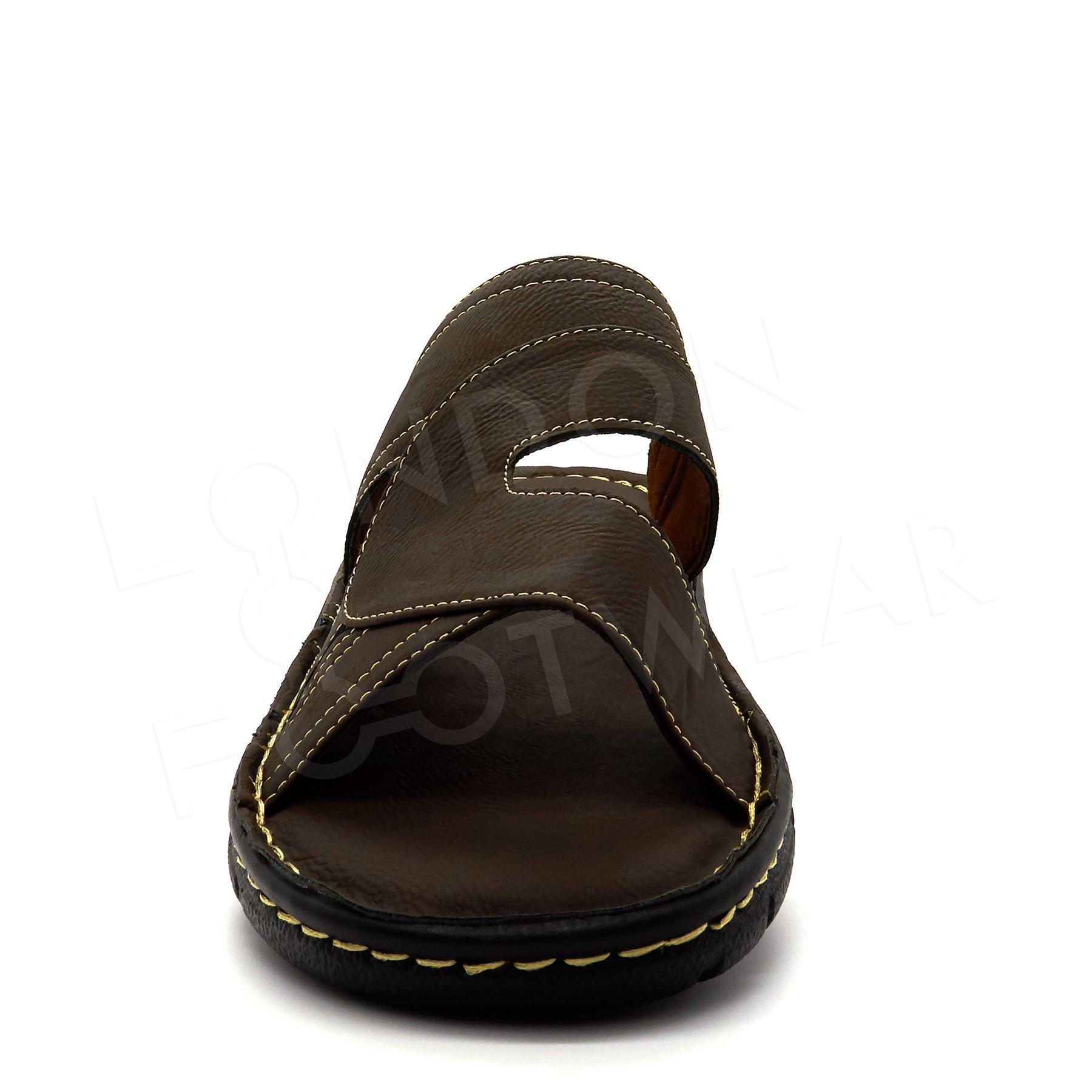 Mens Summer Comfort Walking Sandals Slip On Beach Mules Flip Flops Shoes 6-11