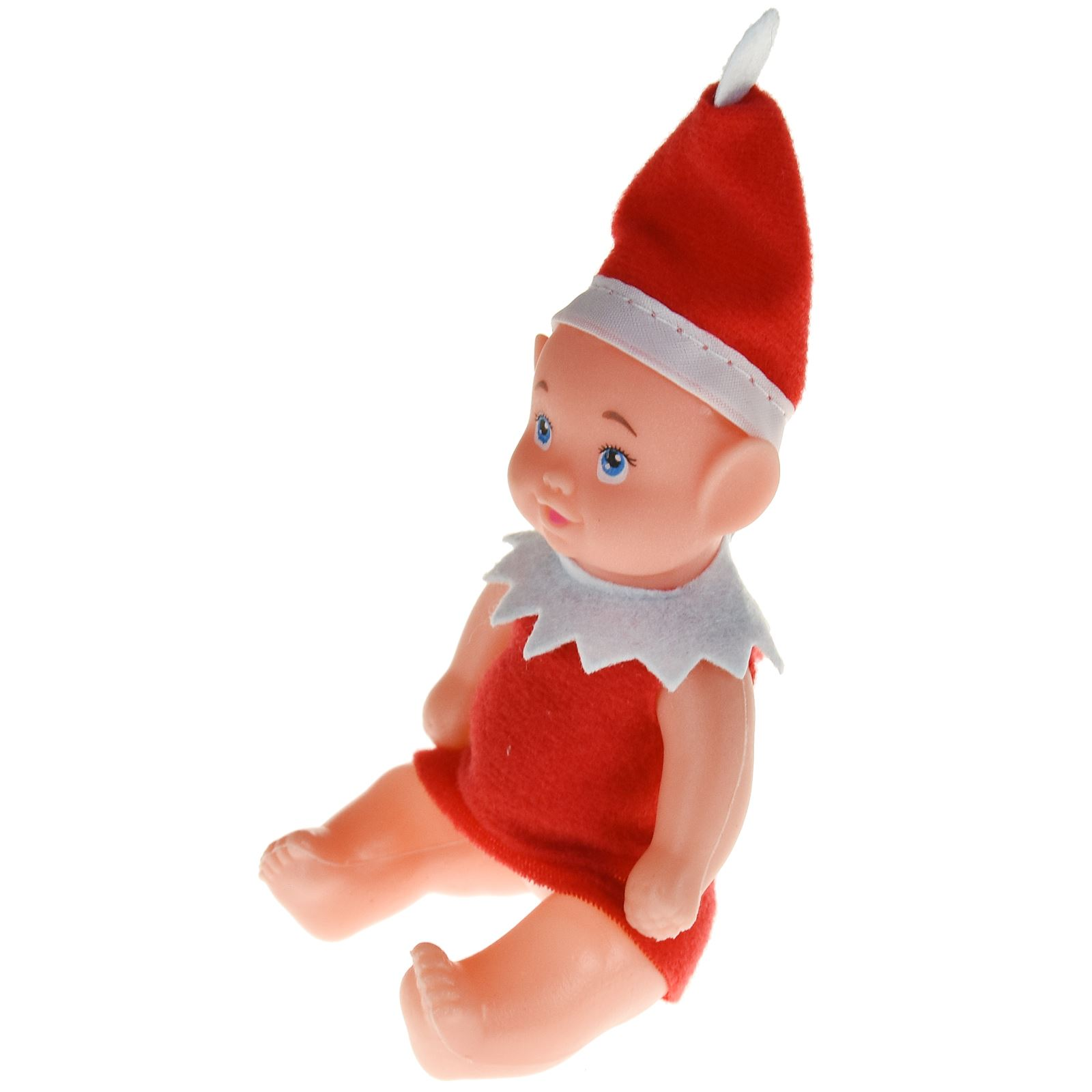 Christmas Cute Baby Helper Elf Figure Novelty Xmas Kid Doll Style Boy Girl